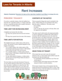 Rent Increases - Information Sheet